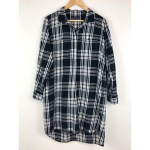 Madewell Plaid Flannel Long Sleeve Dress Tunic